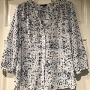 NYDJ Blouse NWOT 100% Polyester